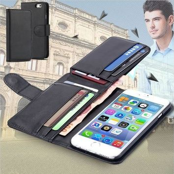 Fold Wallet leather case for iPhone 6 6 Plus 5 5s 5c 4 4s/Samsung Galaxy S5 S6 S6 Edge Note4/ LG G3 G4 NEXUS 5/HTC M9 [7862189255]