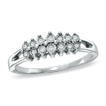 Diamond Accent Fashion Band in Sterling Silver