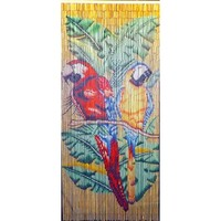 Bamboo54 Double Parrot With Natural Background Curtain
