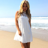 Sky's The Limit Dress In White