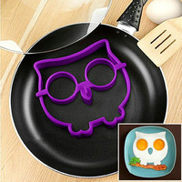 Silicone Egg Mold Tool Breakfast Funny Cooking Tools Pancake Egg Ring Shaper