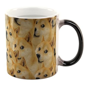 Doge Meme All Over Heat Changing Coffee Mug
