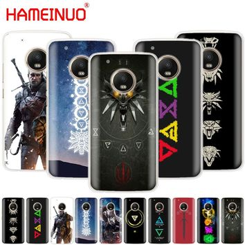 HAMEINUO The Witcher 3 Wild Hunt signs case cover for For Motorola Moto G6 G5 G5S G4 PLAY PLUS ZUK Z2 pro BQ M5.0