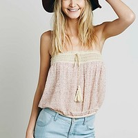 Free People Womens Embroidered Crop Tube
