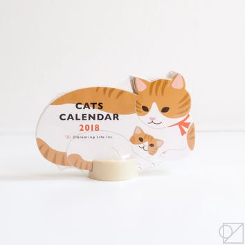 2018 Cat Family Desk Calendar