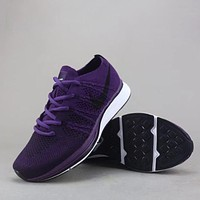 Trendsetter Nike Flyknit Racer  Women Men Fashion Casual  Sneakers Sport Shoes