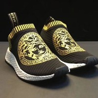 Adidas NMD x VERSACE Trending Women Men Casual Sneakers Sport Running Shoes I