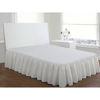 Levinsohn Ruffled Poplin Bedding Bed Skirt Full White