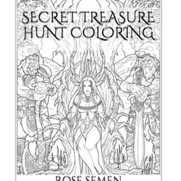 Secret Treasure Hunt Coloring: Relax Your Spirit, Mind and Body with the new Art Therapy