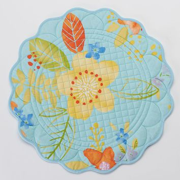SONOMA life + style Round Quilted Floral Placemat