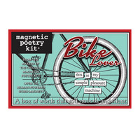 Bike Lover Magnetic Poetry Kit