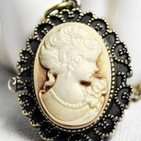 Neoclassical Heirloom Cameo Watch Pendant Necklace | Sincerely Sweet Boutique