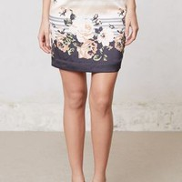 Banded Blossoms Pencil Skirt by Ti Mo Blue Motif S Skirts