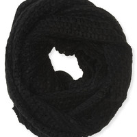 Aeropostale  Open-Knit Infinity Scarf - Black, One