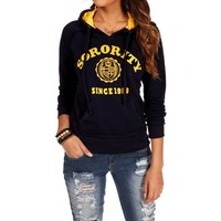 Navy Sorority Hooded Sweatshirt