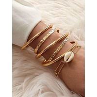 6pcs Shell Decor Bracelet Set