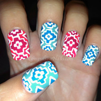 SALE Navajo Inspired Tribal Fake Nails
