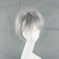 Axis Powers Hetalia Gilbert Silver Wig Anime Cosplay Wig Short Wig Heat Resistant Free Shipping
