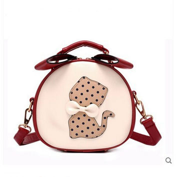 Summer Patchwork Cats Butterfly Korean Stylish One Shoulder Vintage Bags [6581835015]