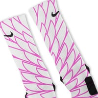 Wings Pink 9 Custom Nike Elite Socks