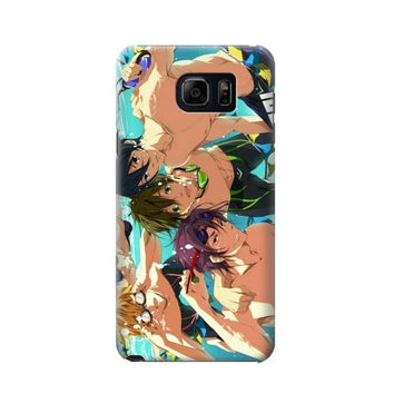 P1904 Free Iwatobi Swim Club Phone Case For Samsung Galaxy S6 edge plus