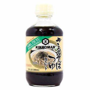 Kikkoman Ready-to-use Soba Tsuyu Dipping Sauce for Noodles 10 oz. (300ml)