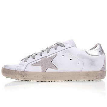 Golden Goose Uomo Donna Deluxe Star Sneakers White Silver Grey Brownsneaker