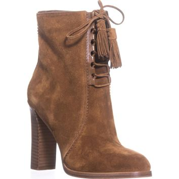 Michael Kors Collection Odile Lace Up Booties, Luggage, 10 US / 41 EU