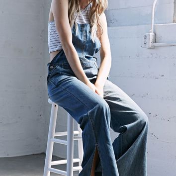 Erin Wasson Hippie Blue Wide Leg Overalls - Womens Jeans - Blue