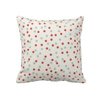 Polka Dot Christmas Throw Pillow from Zazzle.com