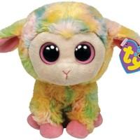 "Ty Beanie Boos Blossom Multi Colored Lamb 6"" Plush"