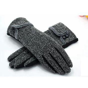 2016 Autumn winter Ladies Wool Gloves Elegant All match Women gloves High Quality Mitten Outdoor Wrist Gloves For Female