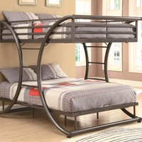 Bunks Full-over-Full Contemporary Bunk Bed by Coaster at Suburban Furniture