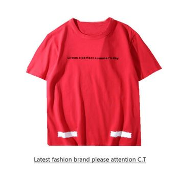Cheap Women's and men's OFF-WHITE t shirt for sale 85902898_0197