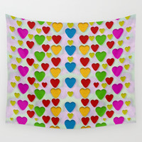 So sweet and hearty as love can be Wall Tapestry by Pepita Selles