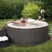 TheraPureSpa 4-Person Round Inflatable Hot Tub