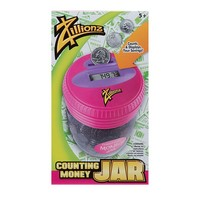 Zillionz Counting Money Jar (Pink)