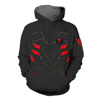 Free shipping Game OW Costume Reaper,SOLDIER:76,Genji Cosplay Sweatshirts Hoodies Coton Casual Pullover Hooded