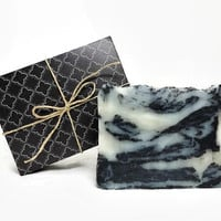 Great Outdoors Charcoal Soap, Handmade Soap, Man Soap, Vegan Soap, Gift under 10