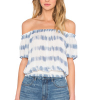 AMUSE SOCIETY La Rue Crop Top in Indy Blue
