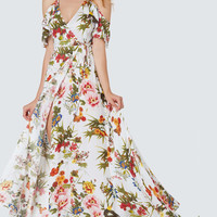 To The Floral Wrap Dress