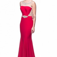 Kari Chang KC10 Red Backless Prom Dress with Train