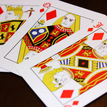 Game of Thrones Playing Cards - Traditional Design Deck of Cards with Westeros Map Back