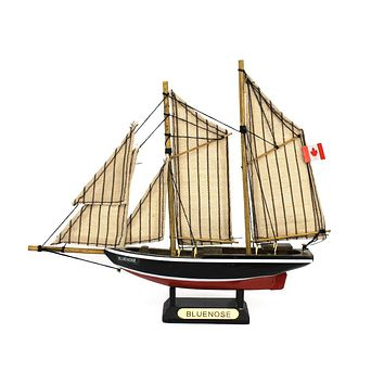 Wooden Bluenose Model Sailboat Decoration 7""