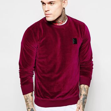 Religion Exclusive Velour Sweatshirt