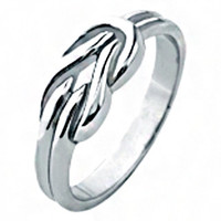 Hercules Love Knot - Polished silver stainless steel Hercules love knot style ring