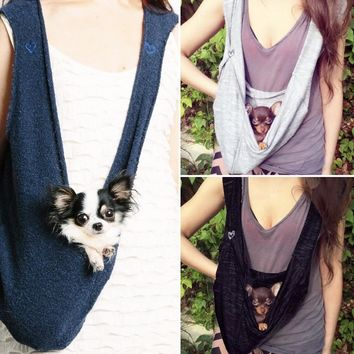 SUMMER Fabric PET SLING with Pocket the DOG CARRIER on Shark Tank