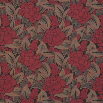 Clarence House Fabric 65011-1 Liberty Rosso