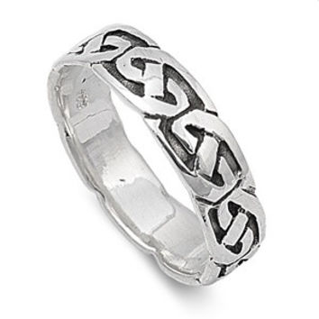 925 Sterling Silver Wiccan Weave 5MM Ring