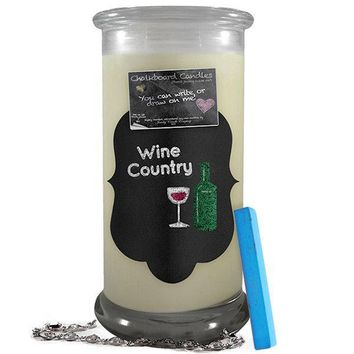 Wine Country | Chalkboard Candle